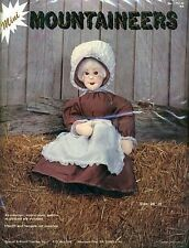 "Vintage Mountaineers ""GRANDMA"" Country 24"" Doll Embroidery Craft Kit 1751-W *NEW"