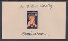 Carolyn Kizer, Pulitzer Winning Poet, signed 25c Marianne Moore stamp on card