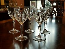 "CRISTAL D'ARQUES-DURAND WASHINGTON CRYSTAL Wine  GLASS CUT PANELS 6"" set of 4"
