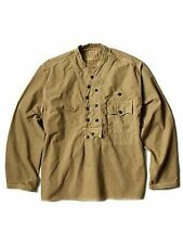 KAPITAL Rip-stop Norway Work Pull Shirts Military sz 3 Beige Cotton Japan New