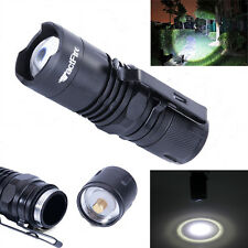 NEW Zoomable 4 Modes Tactfire XML T6 LED 16340 Flashlight Torch Lamp Light