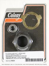 Harley 56-69 XL Clutch Hub Nut,  Lock & Clutch Gear Oil Seal Kit Colony 2738-4