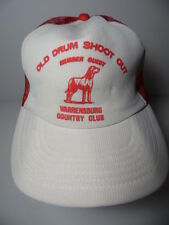 Vintage 1980s OLD DRUM SHOOT OUT WARRENSBURG MO COUNTRY CLUB Snapback Hat Cap