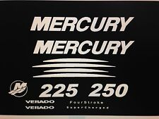 Mercury Verado 225 250 275 300 white  Marine Vinyl Decal Kit