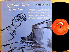 "RCA SHADED DOG 1s/1s ""Keyboard Giants of Past"" PADEREWSKI RACHMANINOFF SP-33-143"