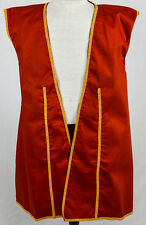 Pirate Buccaneer Vest Men's Large Red Twill  Halloween Fantasy CosPlay Costume
