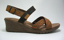 New Keen Skyline size 6.5 Thrush Brown Coral Cross Strap Wedge Sport Sandals