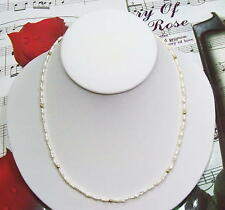 """Single Strand Fresh Water Pearls With 14K GF Beads Necklace, 19"""". FWN012"""