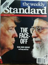 The Weekly Standard Feb 27 2017 The Face Off Donald Trump Iran FREE SHIPPING sb