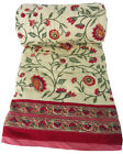 "Anokhi mini quilt: Firenze Red, reversible - 100% cotton - 45"" x 56"""