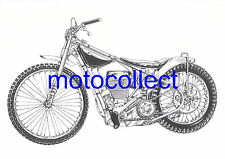 JAWA Speedway Bike - Detailed  Drawing..A3 Print..Free Postage Worldwide