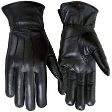 Winter Dress Gloves Womens Thermal Linning Real Leather Glove Black, 7, Medium