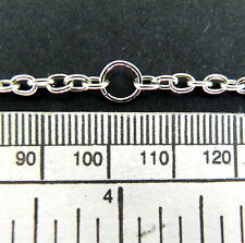 "Chain - silver finish - 10 links per inch - 36"" length with jump rings"