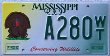 FREE UK POSTAGE American Mississippi Turkey USA License Number Plate A280WT