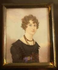 FINE GEORGIAN PORTRAIT MINIATURE of a YOUNG LADY by FREDERICK BUCK