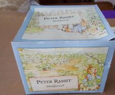 WEDGWOOD ENGLAND BEATRIX POTTER PETER RABBIT CUP & SAUCER ~ NEVER USED IN BOX