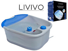LIVIVO ELECTRIC VIBRATING FOOT SPA INFRARED MASSAGER PEDICURE FOOTSPA MASSAGE