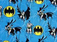 FAT QUARTER BATMAN LOGO SUPERHERO DC COMICS COTTON FABRIC DARK KNIGHT CAMELOT FQ