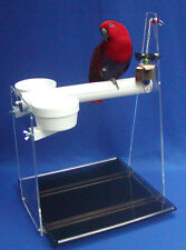 Parrot TALL TABLE PERCH/CAR SEAT-cups-toy-pedicure perch -lift-off ez-clean tray