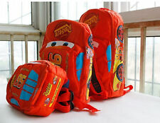 New Child Pixar Cars Mcqueen Kids Boy Girl Backpack School Bag Best Gift 1-4