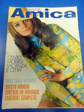 AMICA SETTIMANALE ATTUALITA DONNA 9 LUGLIO 1968. ENZO TORTORA-BRIGITTE BARDOT