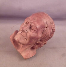 a Fine Antique Carved Wood Figural Pipe of Voltaire - French ? Briar ? Unsmoked