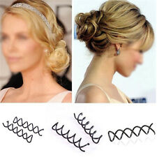 10pcs Black Spiral Spin Screw Bobby Pin Lady Girl Hair Clips Lady Twist Barrette