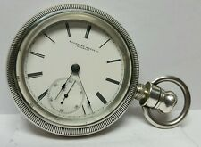 ROCKFORD WATCH CO ANTIQUE COIN SILVER POCKET WATCH SIZE 18S MOVEMENT #33255