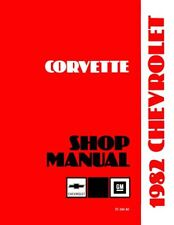 1982 Corvette Shop Service Repair Manual Book