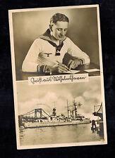 1942 Wilhemshafen Germany RPPC Feldpost Cover Postcard Kriegsmarine Navy Sailor