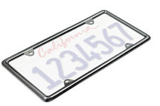 OxGord Metal License Plate Frame HD Stainless Steel Chrome Car SUV Van Truck D