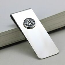 Quality Stainless Steel Money Clip with Masonic Symbol