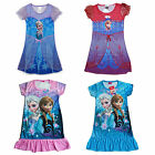 Girls Kids 3-8Y Dress Frozen Elsa Anna Nightgown Nightwear Nightdress Sleepwear