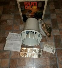 VTG EMERSON SUN GLO HANGING HEAT LAMP BLOWING HEATER CEILING LIGHT ALMOND SWAG