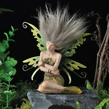"""Fiddlehead Fairy Garden WOODLAND NYMPH, Sitting with Arms Folded, 5½"""" Tall"""