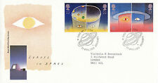 23 avril 1991 l'europe dans l'espace royal mail first day cover cambridge shs (a)