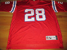 Throwbacks COREY DILLON No 28 NEW ENGLAND PATRIOTS (XL) Jersey RED