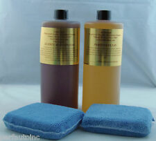 LEATHERIQUE LEATHER RESTORATION REJUVINATOR OIL PRESTINE CLEAN 32OZ.  APP PADS