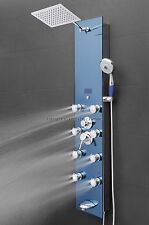 Tempered glass shower tower head & massage functional jets panel tub spout