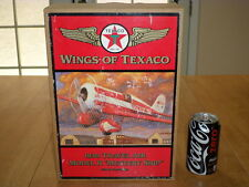 WINGS OF TEXACO-1930 TRAVEL AIR MODEL R, AIRPLANE, DIECAST METAL COIN BANK, 1:32