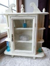 Upcycled wood wall or tabletop curio cabinet shabby cottage french country