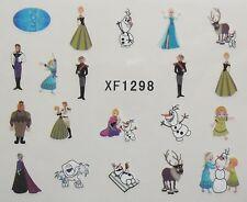 Accessoire ongles, nail art , Stickers décalcomanie, Frozen Reine des neiges