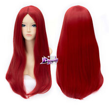 The Nightmare Before Christmas Sally Cosplay Wavy Red Synthetic 60cm Long Wig