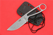 Silver Survival Knife Portable Fixed Blade Hunting Knife EDC Outdoor Knives