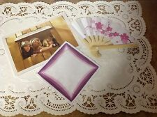 Authentic American Girl Doll Clothes KIT'S MEET HANDKERCHIEF & POSTCARD & FAN
