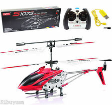 Syma S107G 3.5CH Phantom Mini Metal Remote Control RC Helicopter GYRO Drone LED