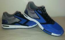 MEN'S-VINTAGE BROOKS RUNNING SHOES-Size 9-EU 42.5-BLUE-SILVER-SUEDE