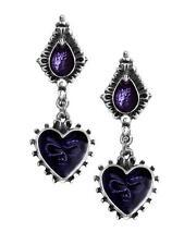 Mirror of the Soul Studs/Earrings - E271 - Alchemy Gothic heart/skull jewellery