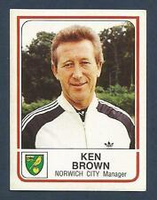 PANINI FOOTBALL 84-#174-NORWICH CITY-KEN BROWN