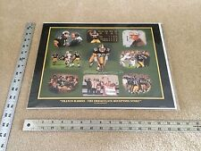 FRANCO HARRIS SIGNED IMMACULATE RECEPTION LITHOGRAPH LINDA BARNICOTT STEELERS